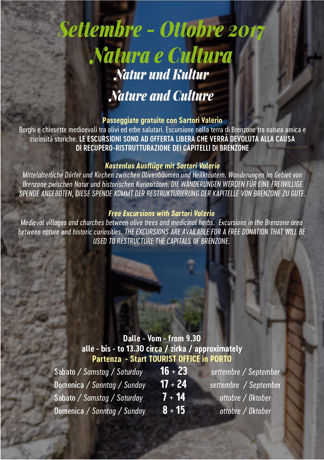 Settembre - Ottobre 2017: Natura e Cultura